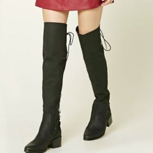Over the knee Boot OTK thigh lace up NEW!